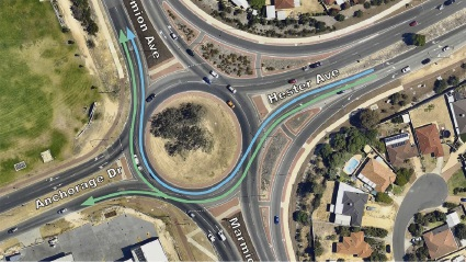 City of Wanneroo has modified right-turning lanes from Hester Avenue into Marmion Avenue.