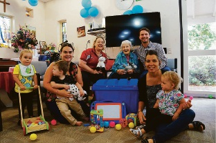 The new intergenerational playgroup at Yallambee residential care facility in Mundaring.