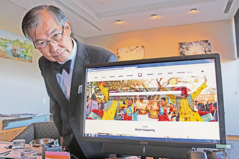 Canning Mayor Paul Ng reckons businesses and people will connect more easily to the City through its new website.