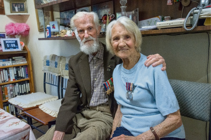 Ted and Alice Foreman served in World War II. Picture Emma Geary