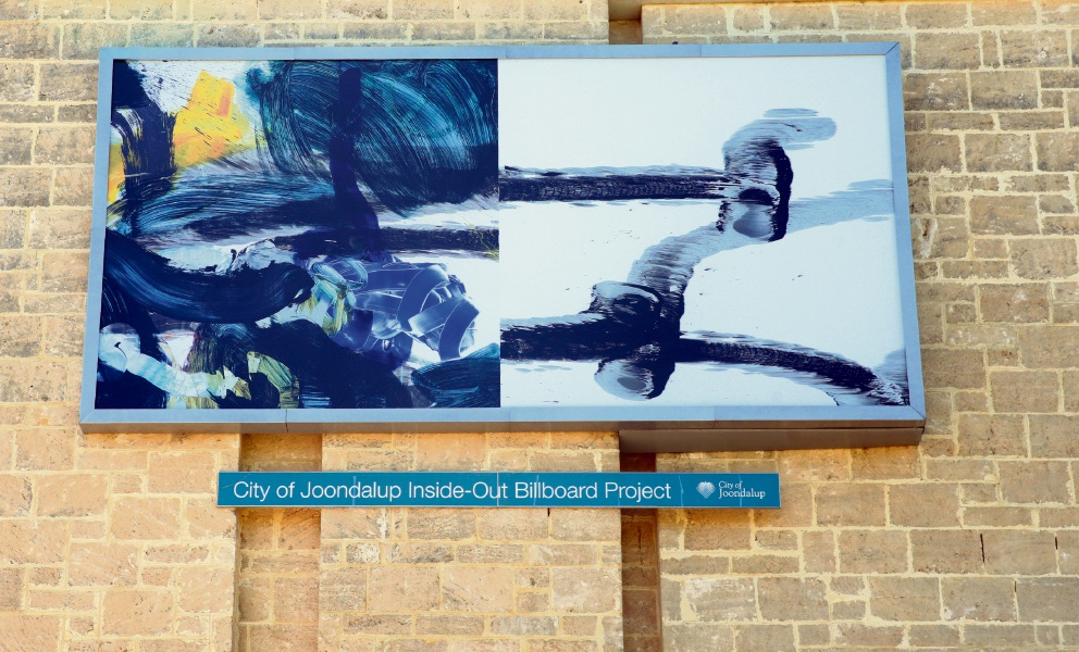 The artwork outside Joondalup Library. d466997