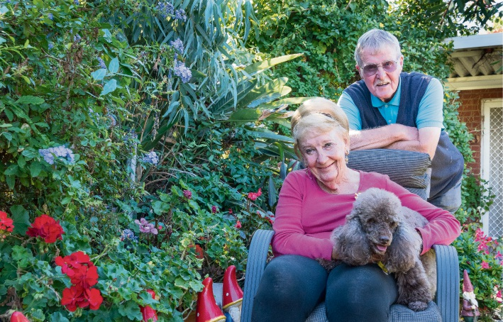 Anne and David Harris with their poodle Chi Chi. Picture Emma Geary