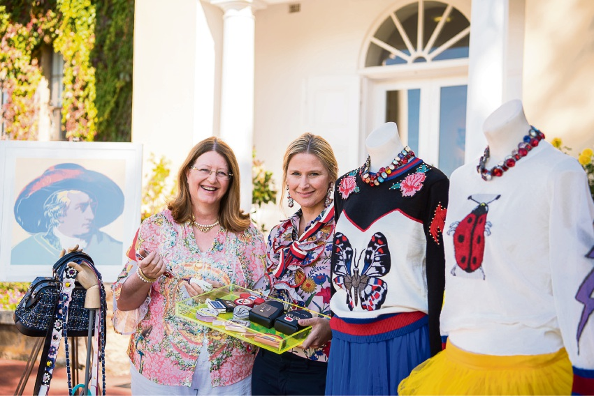 Old Scholars Association President Anu van Hattem (left) and Sarah Templeman with some treats for sale at the Bay View Bazaar.