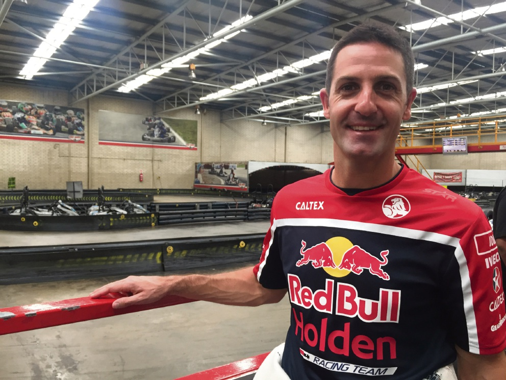 Jamie Whincup said go karting's a refreshing change of pace from supercars.