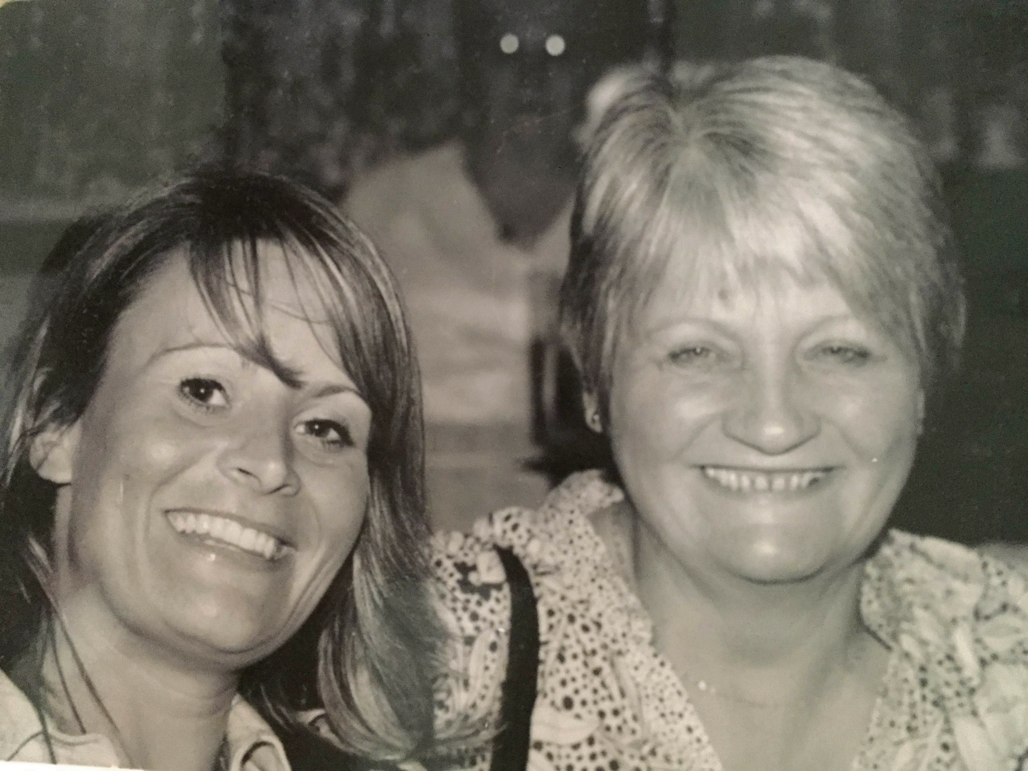 Angela Milburn with mum Anne Milburn before Anne was diagnosed with MND.