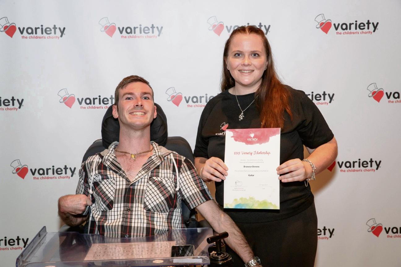Variety scholarship winner Bronwyn Stevens and her brother Martin Stevens.