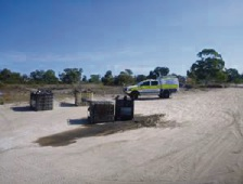Four 1000-litre fuel containers have been dumped in Rockingham bushland.