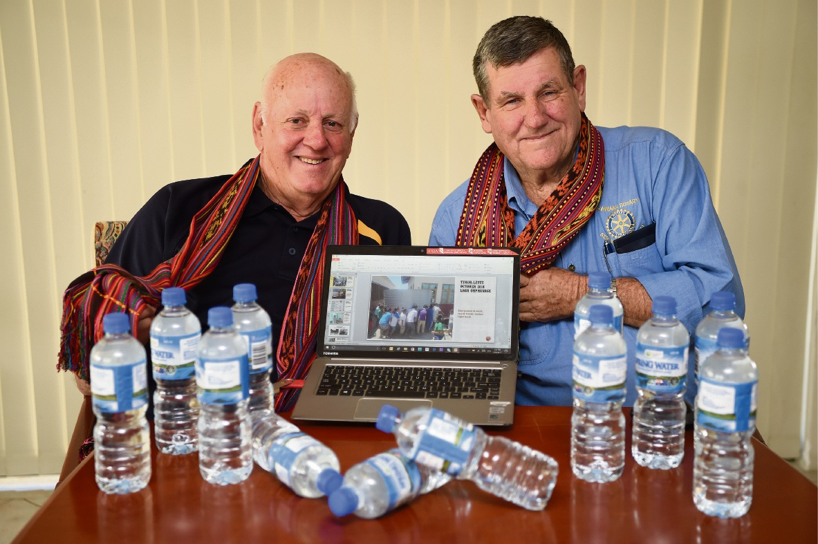 Kwinana Rotarians Bob Cooper and Max Bird will be heading back to Timor Leste to continue the Rotary water supply project. Picture: Jon Hewson d468570