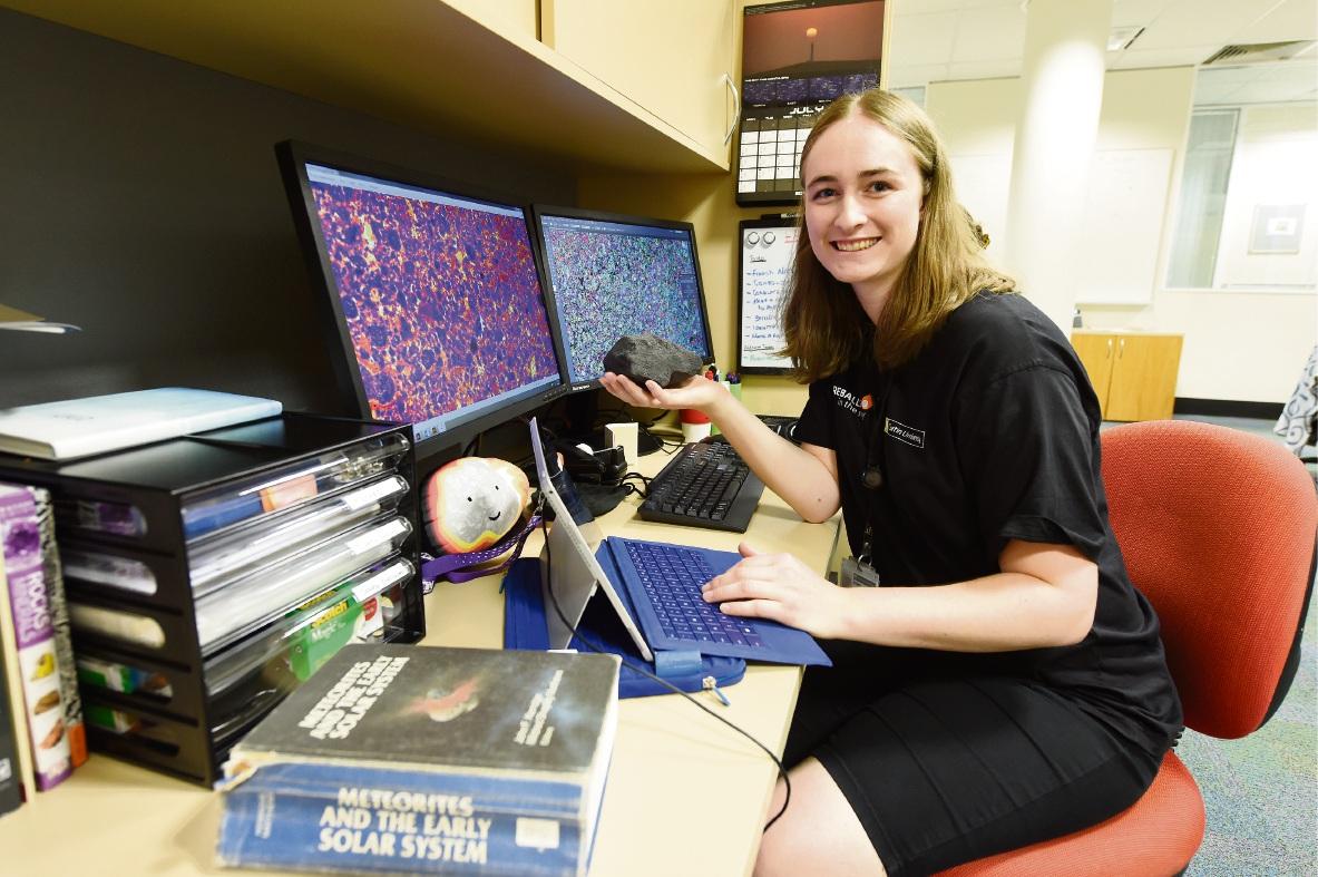 NASA-bound Curtin University student Nicole Nevill. Picture: Jon Hewson