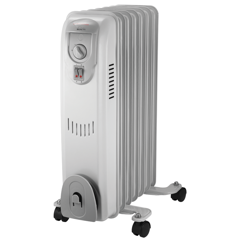 A Moretti oil heater.