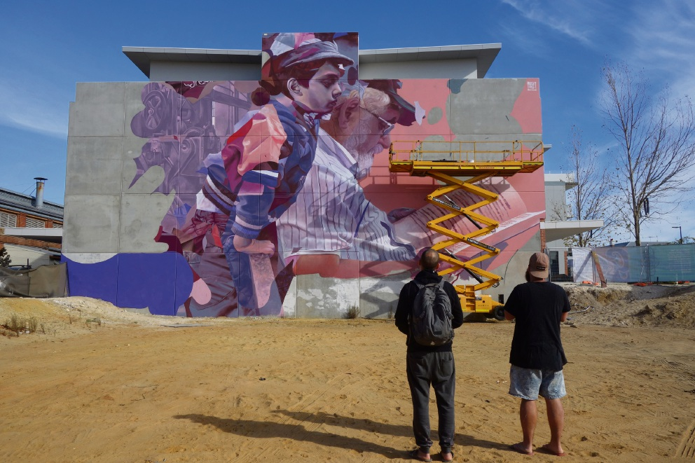Mural adds life to Midland Railway Workshops