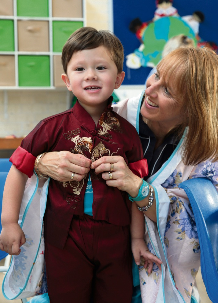 Pre-kindy coordinator Jenny Tough with Joseph Pile (3). Picture: Martin Kennealey d468723