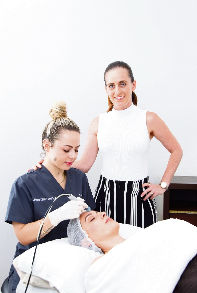 Le Beau Clinic and Spa owner Karen Briffa-Skewes with team leader Steph Ricciardi. Picture: Marie Nirme