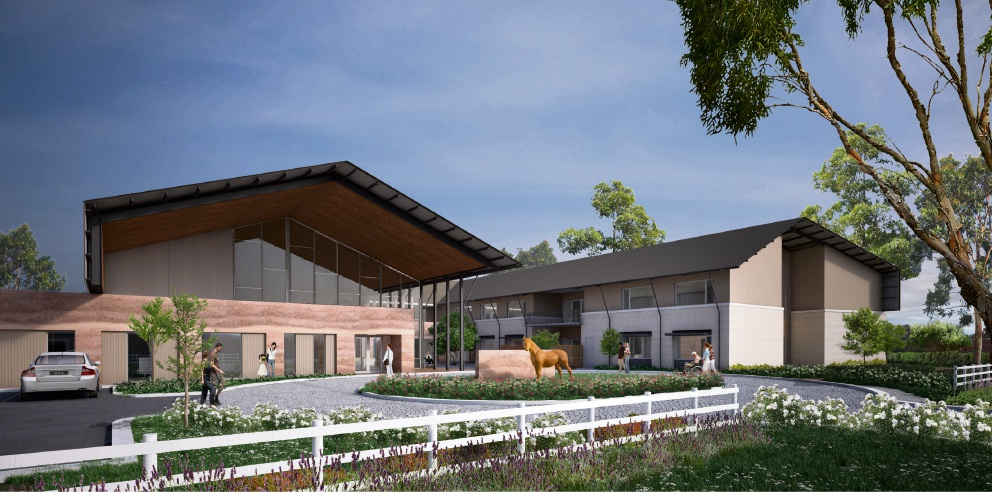 Artist's impression of the new Martin aged care facility.