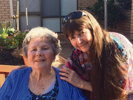 Shirley Crowhurst with her daughter Sharon Werndly.