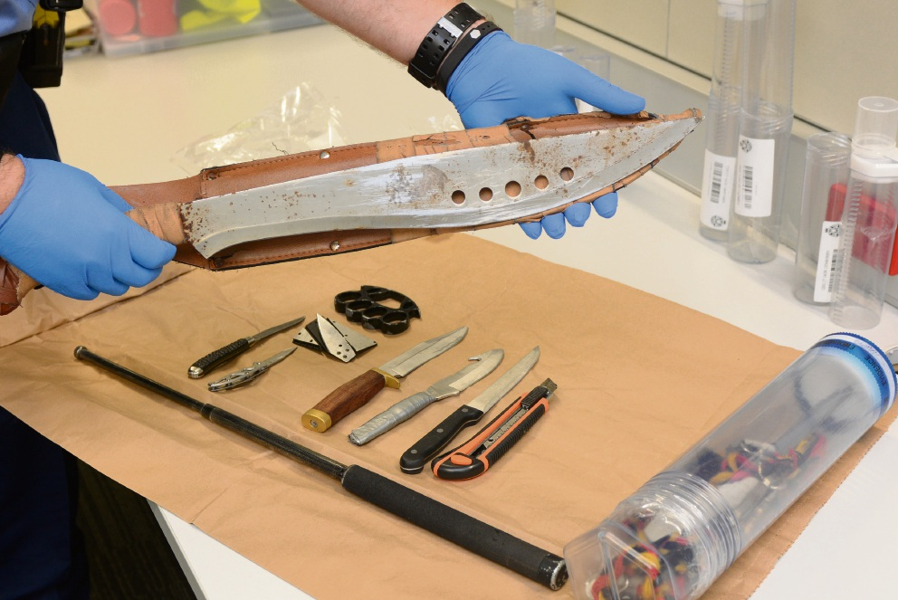The machete allegedly carried by the Hamilton Hill boy.