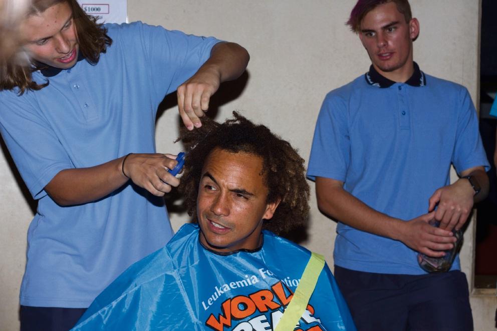 Teacher loses hair for chaiity