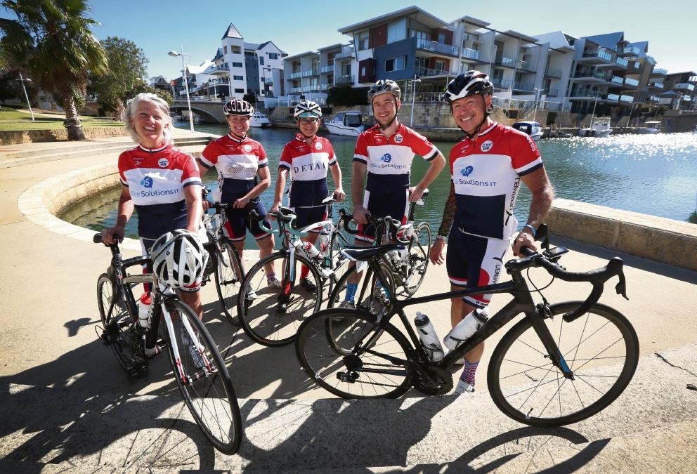 Hawaiian Ride for Youth cyclists descend on Mandurah