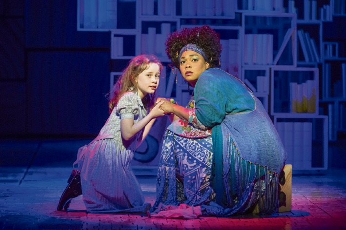 Cle Morgan as Mrs Phelps with Matilda.