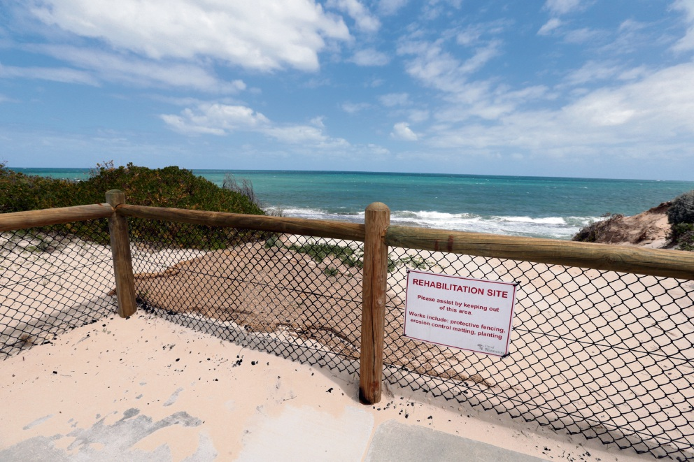 The northern location where the City of Wanneroo proposes to build beach access stairs.