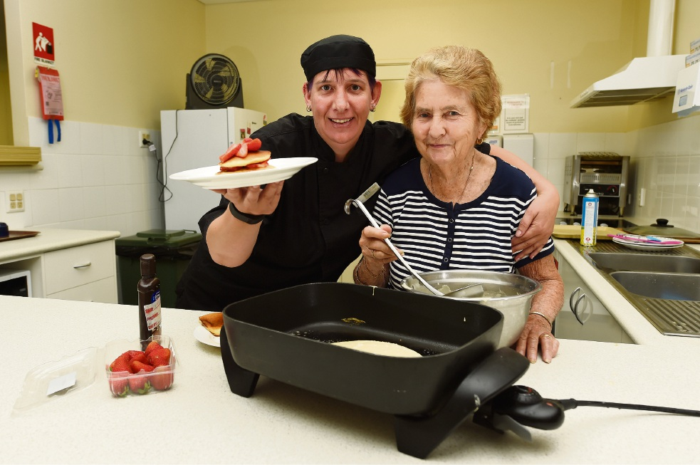 Mandurah seniors get busy for Pancake Day