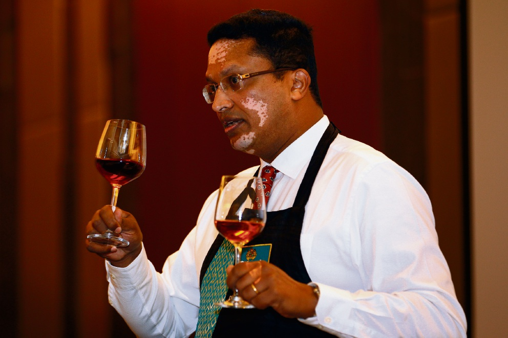Dilmah director Dilhan C Fernando during his School of Teas at Crown Perth Picture: Marie Nirme