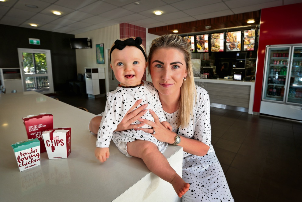 Lauren Groves, with her daughter Arlee, has a lot to celebrate this Mother's Day. Picture: David Baylis