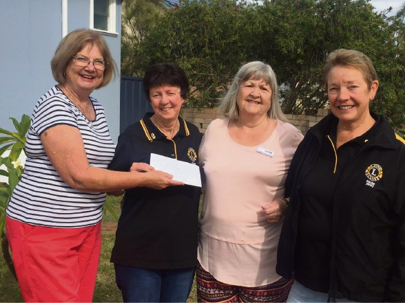 Kaye Seeber, Lions secretary Lorraine Atherton, Judith Rhodes and Lions treasurer Helen Thomas.
