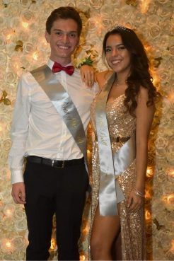 Beau and belle of the ball Jarrod Ross and Sarah Martinez Gutierrez.