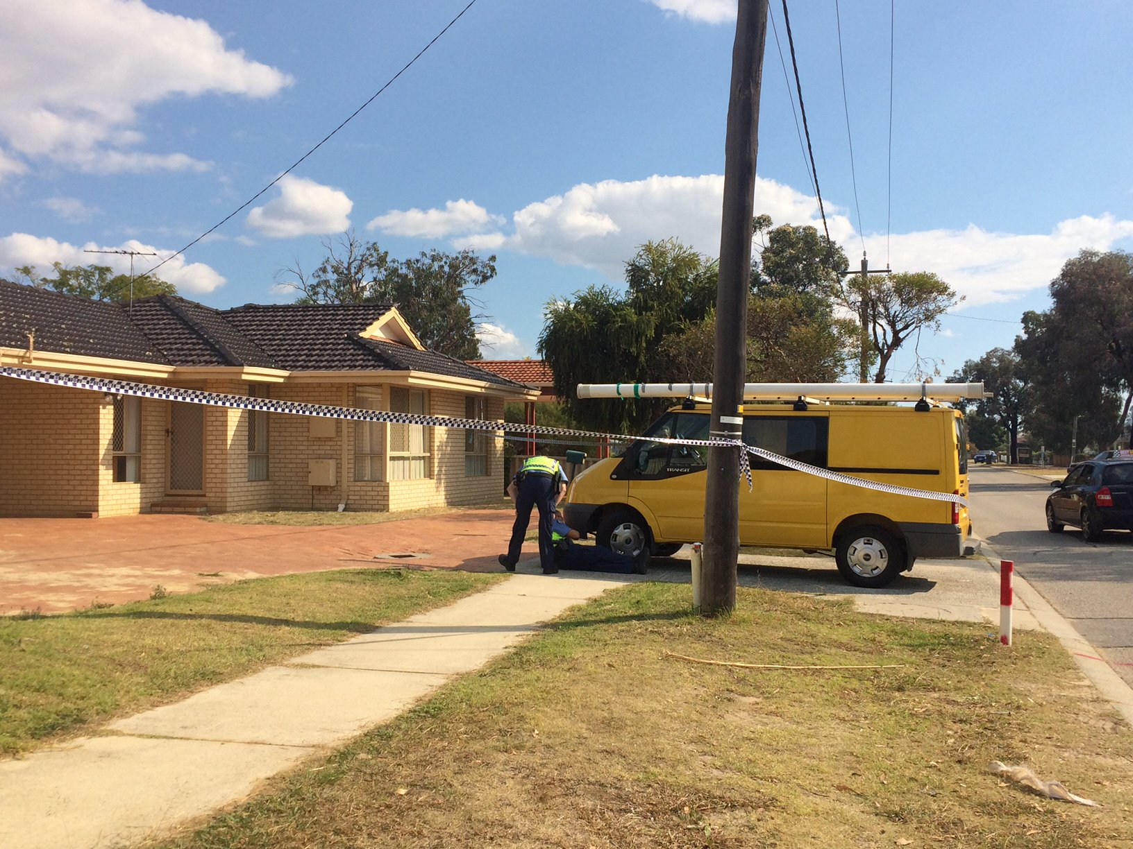 Police investigate in Midland. Photo: Seven News/Twitter