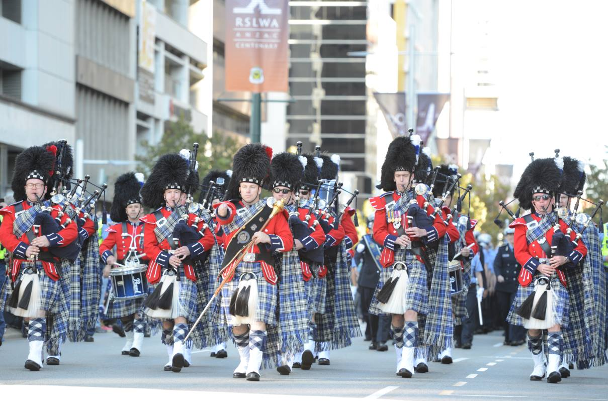The WA Police Pipe Band.