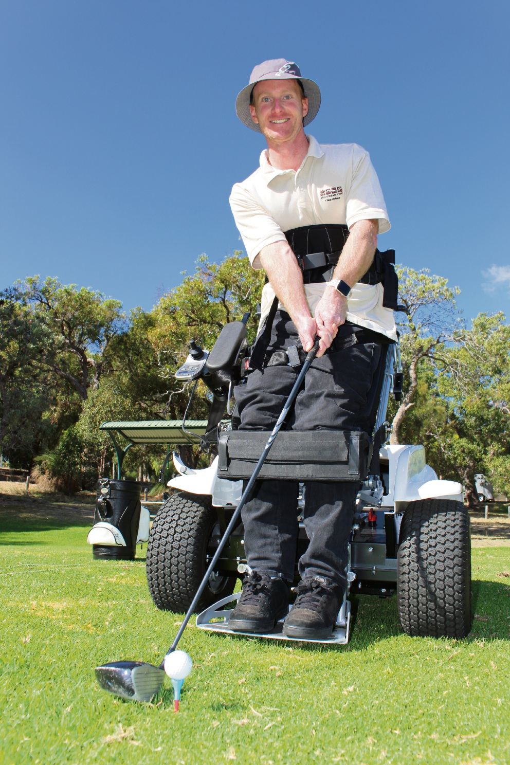 Empower Golf helped Clint Morgan return to the sport for the first time since an accident left him paralysed in September last year.