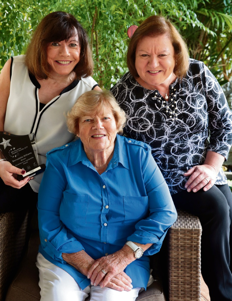 Generations of excellent care: Bernadette Williams,her mother Mary Tanner and her sister Angie Monk. Picture: Martin Kennealey        www.communitypix.com.au   d468810
