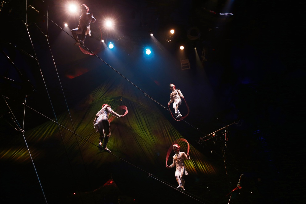 More than one thrill seeker in Cirque du Soleil Kooza cast