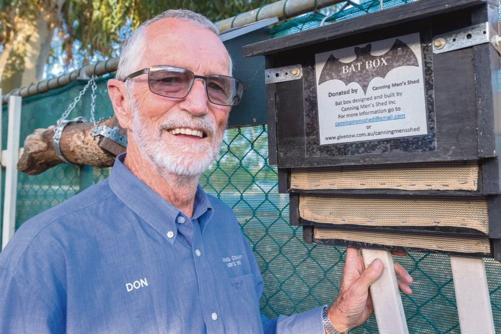 Don Buchanan encourages people to install a bat box in their gardens.