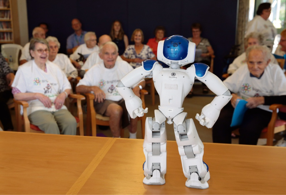 Domo arigato, Mrs Roboto: Madeley senior choir led in song by robot conductor Alice