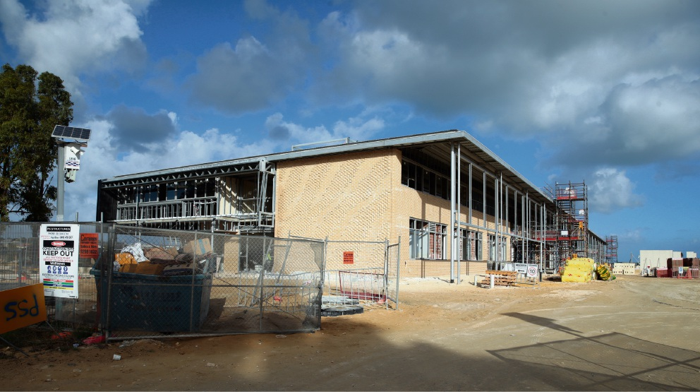 The school taking shape. Pictures: Martin Kennealey www.communitypix.com.au d469243