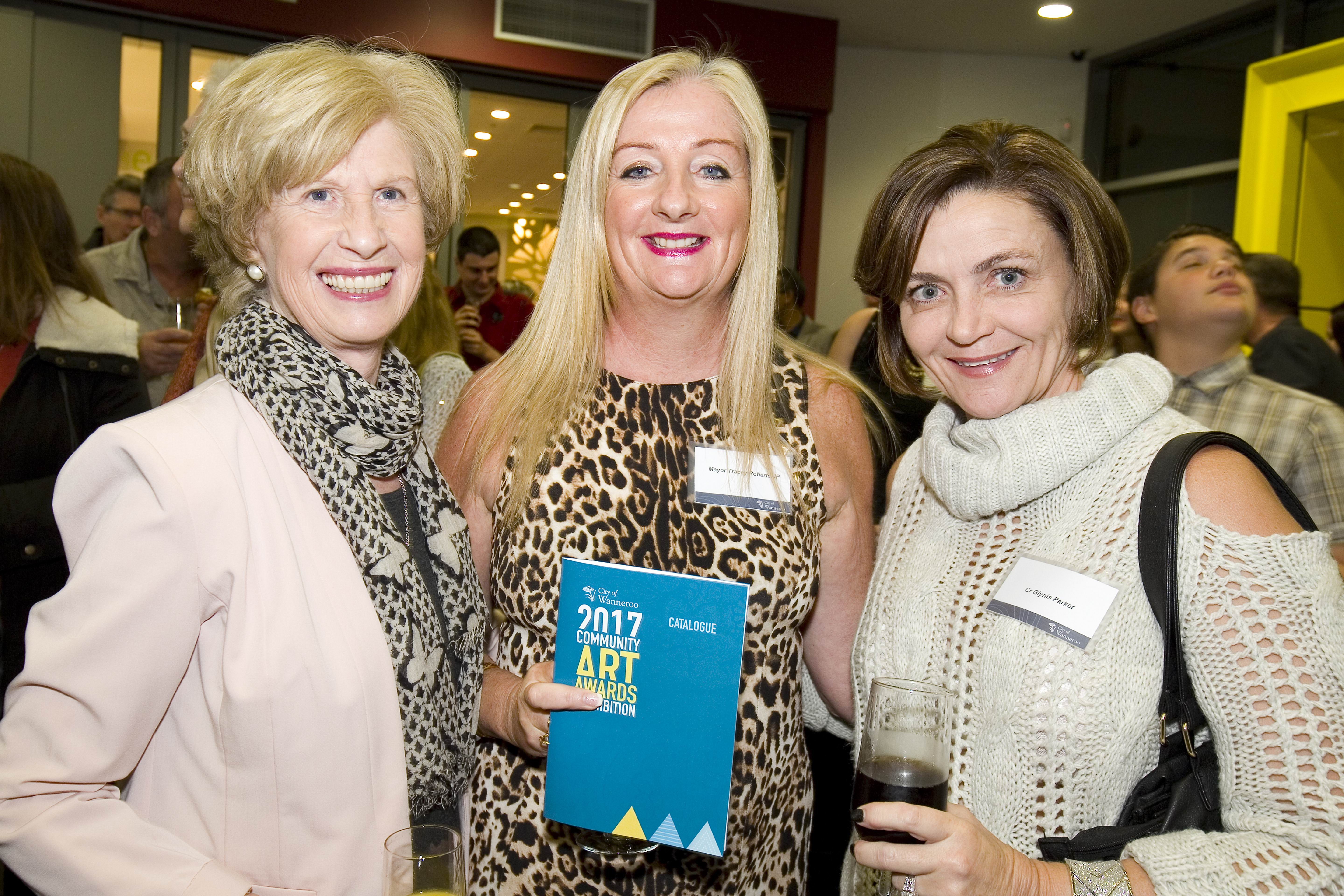 Bernice Marwick, Wanneroo Mayor Tracey Roberts and councillor Glynis Parker
