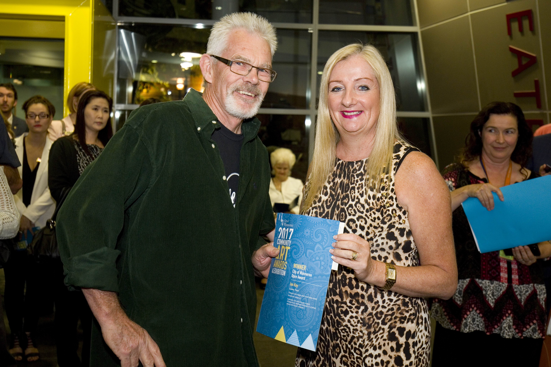 Overall winner Ian Kay and Wanneroo Mayor Tracey Roberts