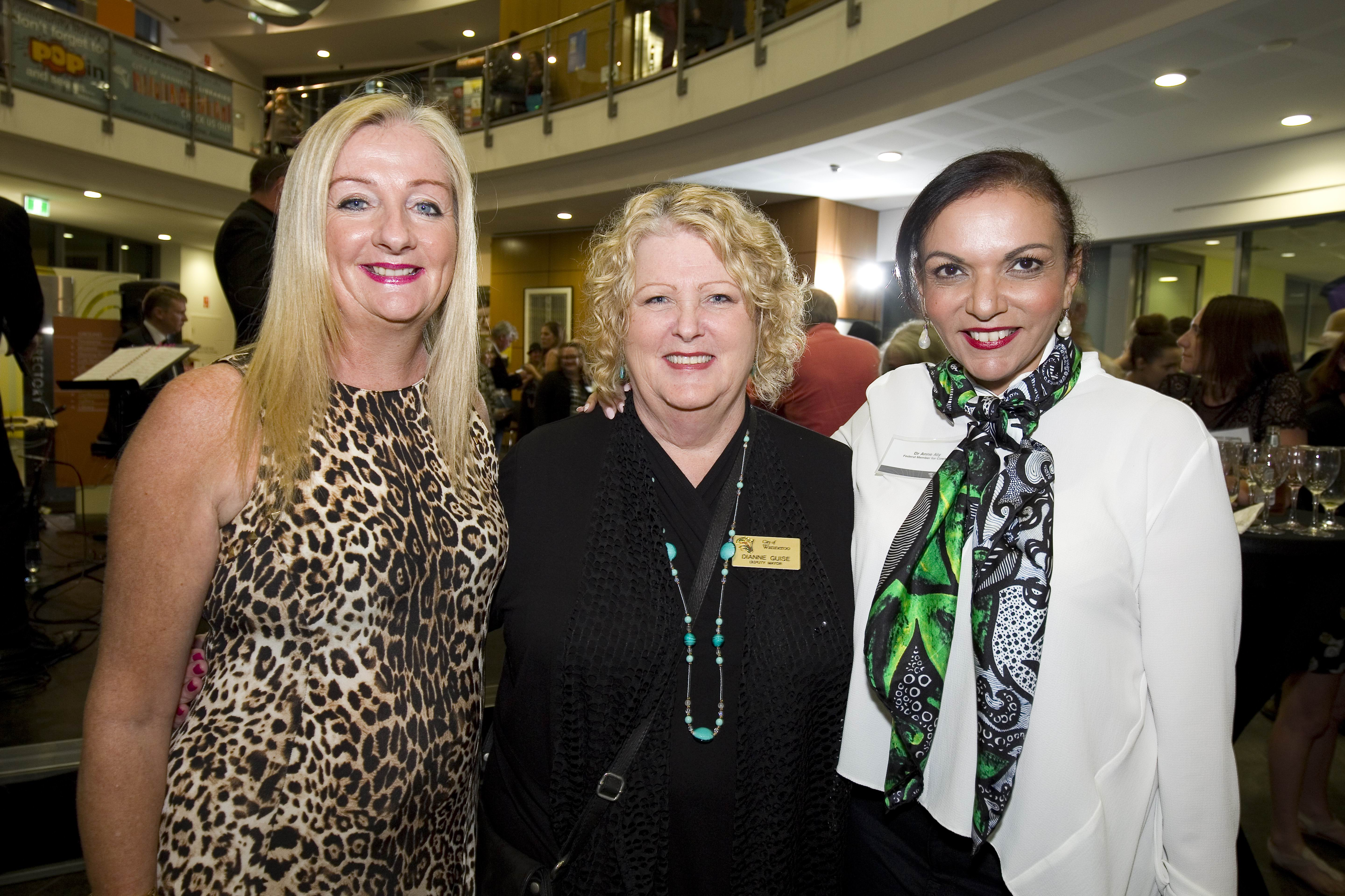 Wanneroo Mayor Tracey Roberts, Deputy Mayor Dianne Guise and Cowan MHR Anne Aly