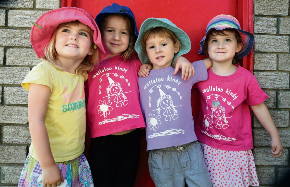 A new generation to benefit from Mullaloo Community Kindy: Olivia Barnard, Bella Jenkins, Freya Prestage and Madeleine Hoskin. Picture: Martin Kennealey www.communitypix.com.au   d468433