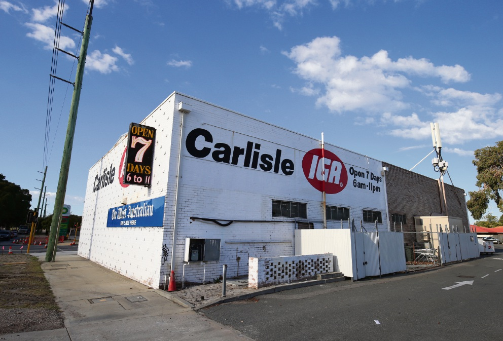 Carlisle IGA could be knocked down to make way for a Hungry Jack's and 7-Eleven service station. Picture: Matt Jelonek