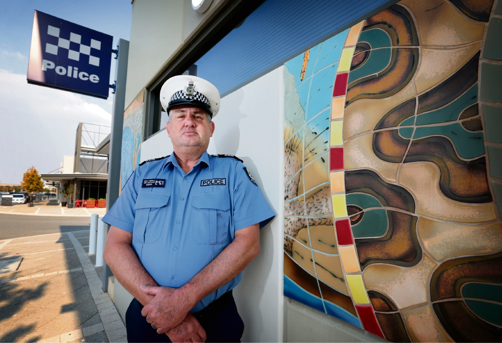 Snr Sgt Wally Brierley OIC of the Ellenbrook station. Picture: David Baylis         d469135