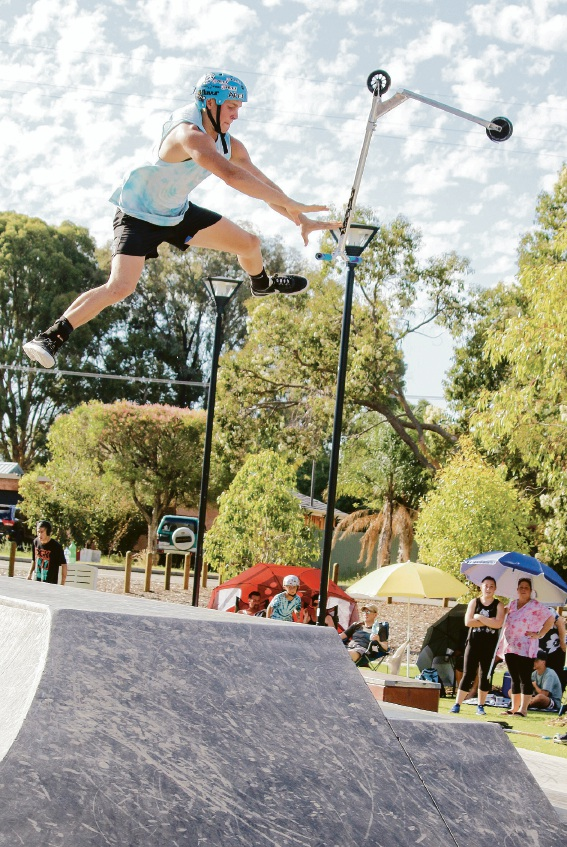Skateboarding royalty gather for King of the Hill grand final