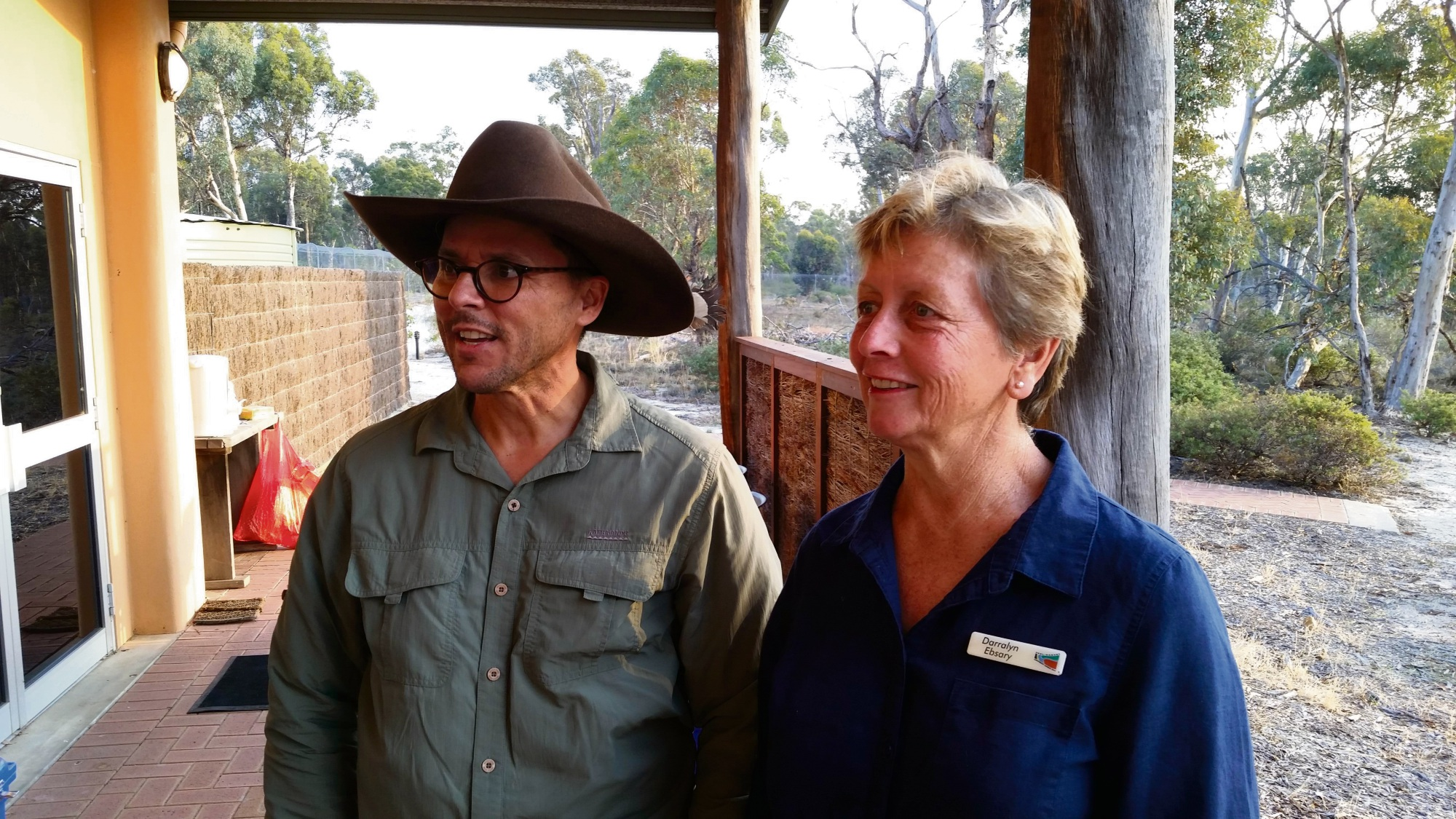 Threatened Species commissioner Gregory Andrews with PHCC member Darralyn Ebsary at the Farmers 4 Fauna Launch.