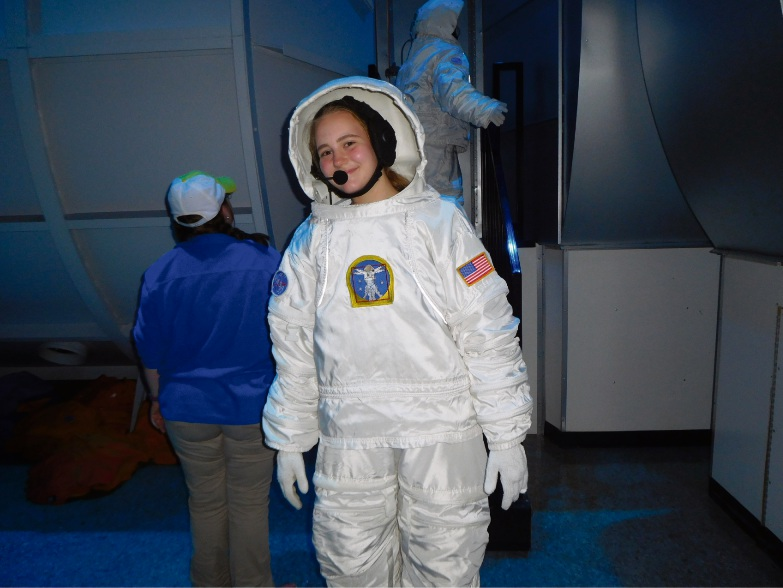 Year 11 student Melisse Burgoyne at NASA's Advanced Space Academy.