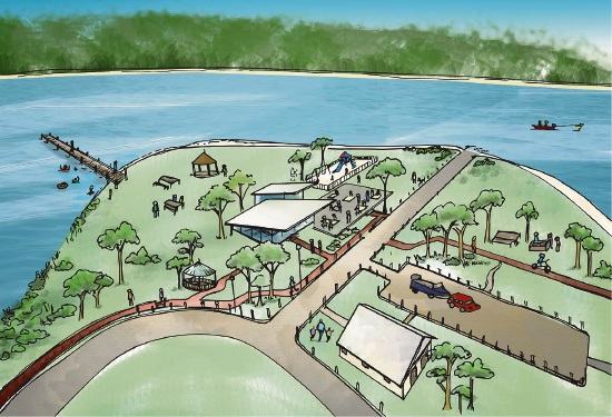 An artist's impression of the refurbished Deep Water Point.