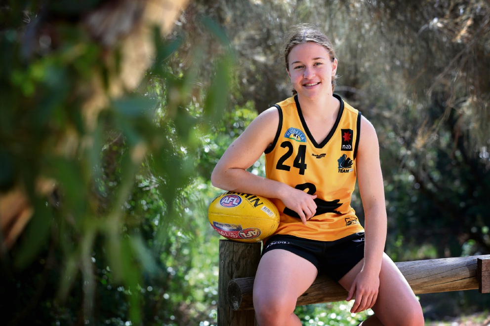 Mikayla Bowen (16) of Darlington. Mikayla is playing for WA in the Under-18s women's championship. Picture: David Baylis d469375