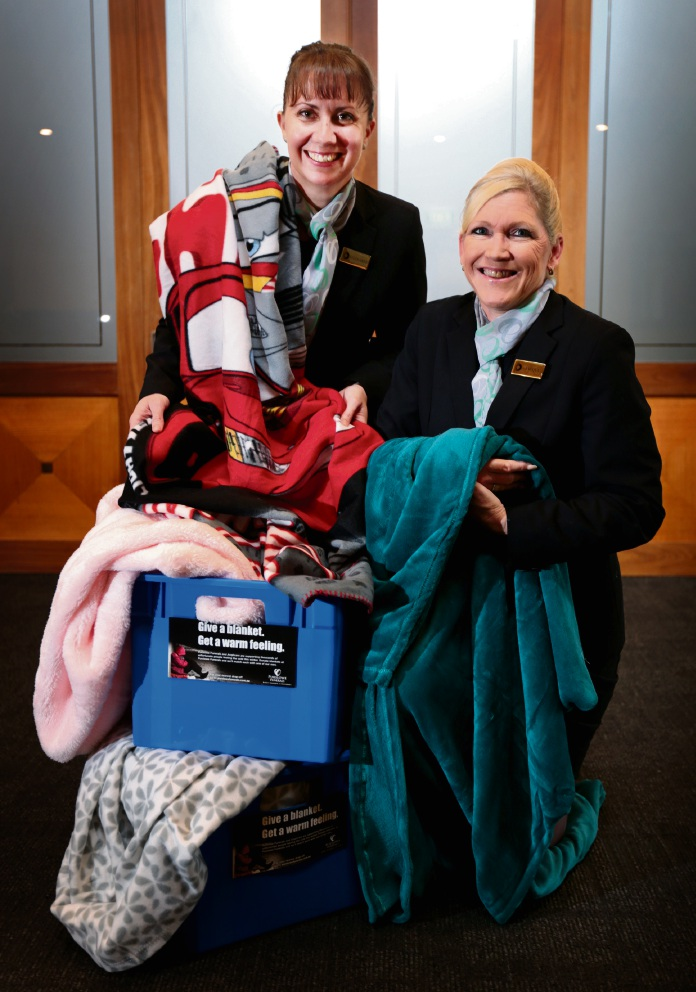 Kelly-Anne Rhodes and Jacqui Kidman of Purslowe Funerals in Midland.                                 d469108