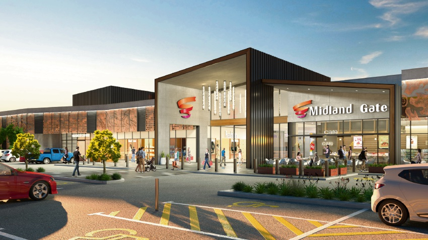 Artist's impression of a revamped Midland Gate.